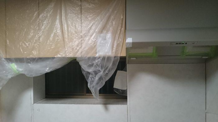 キッチンパネルの施工