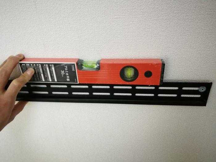 壁掛けテレビ 水平器