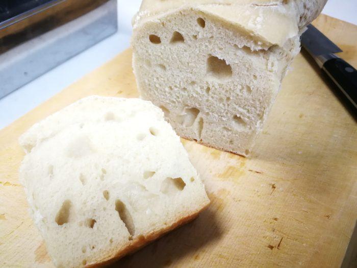 余ったピザ生地で作ったパン