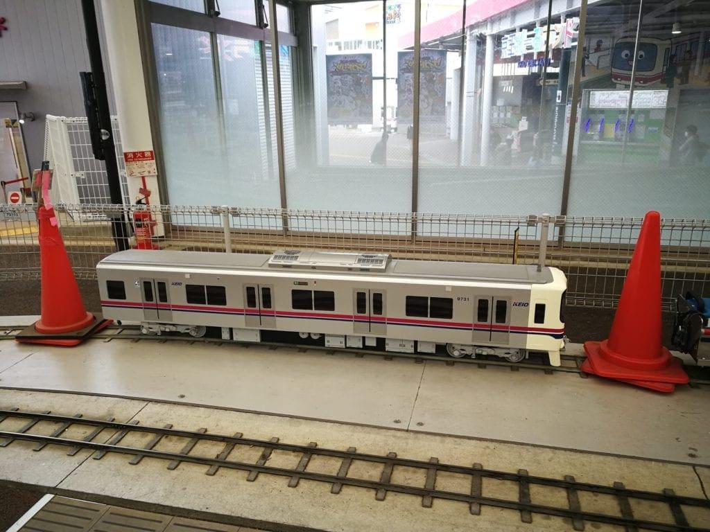 京王レールランドのミニ電車
