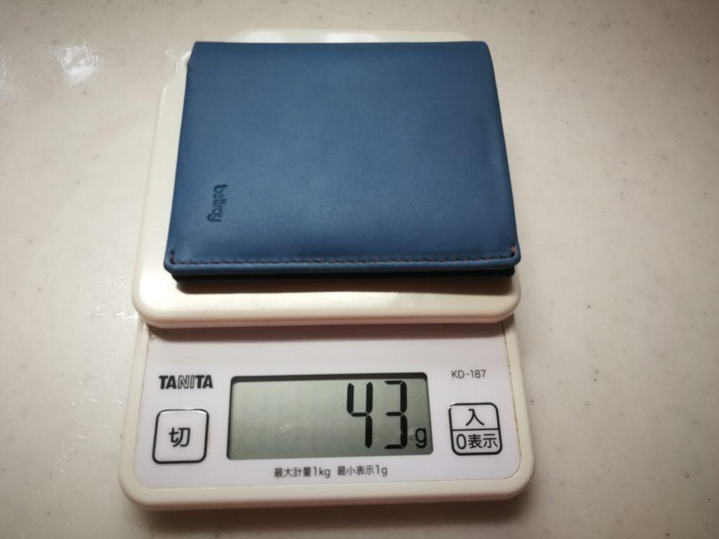 43グラムの軽すぎる財布Bellroy