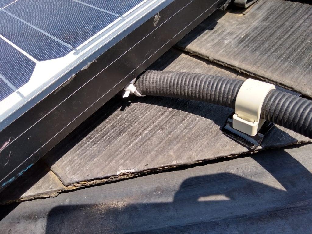 太陽光 スレート pf管