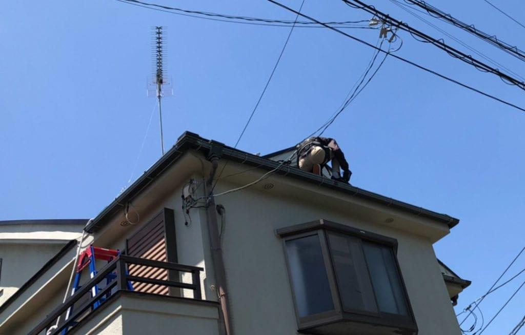 屋根 作業