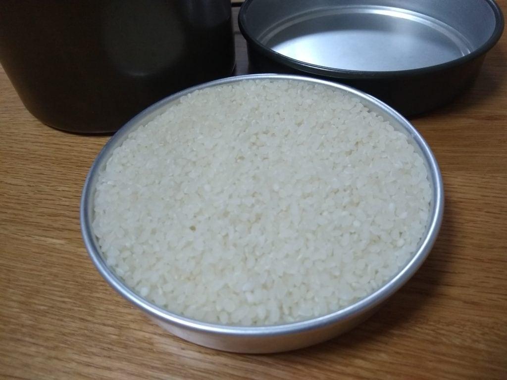飯盒 米 計量
