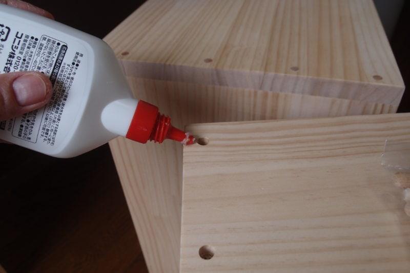ウルムスツール 木工用ボンド