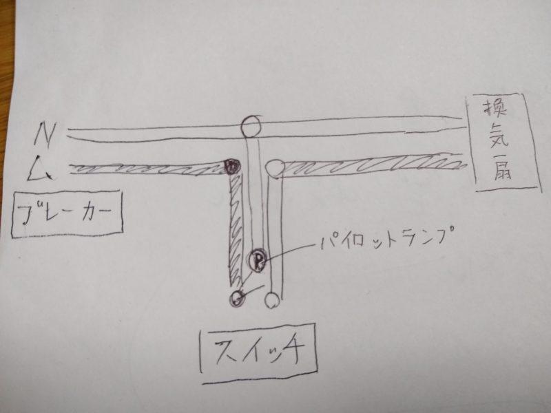 換気扇 複線図
