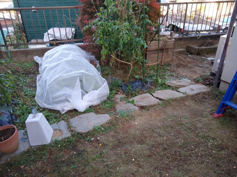 庭に自転車置場を作る