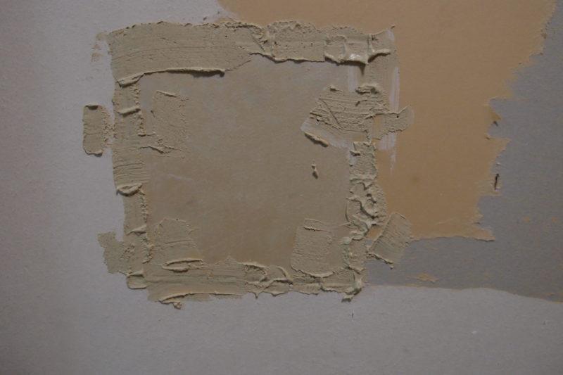 パテ補修 壁の穴