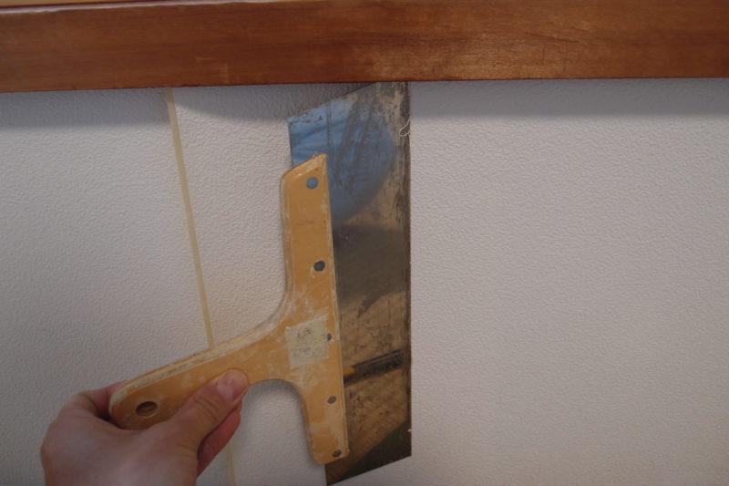 壁紙 ジョイント部分の加工