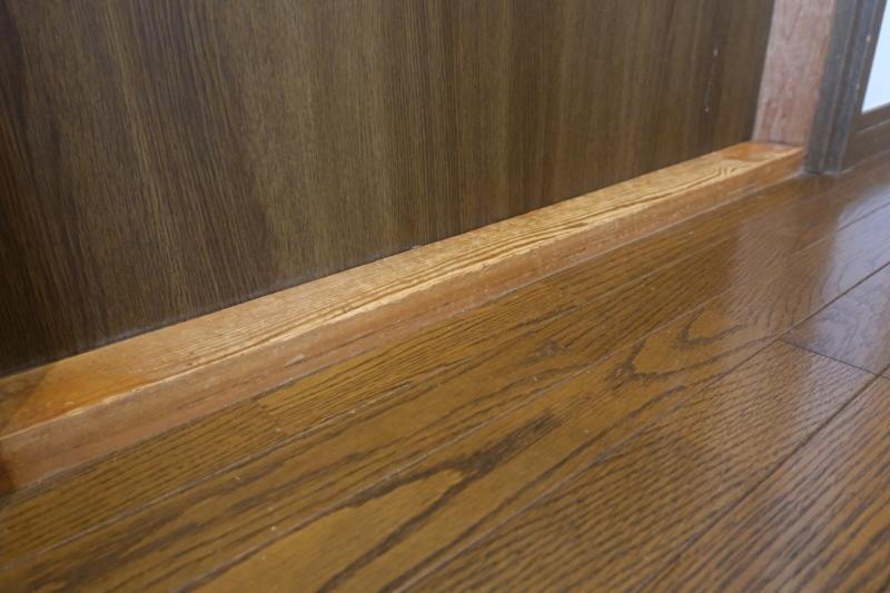 和室入口の床納まり
