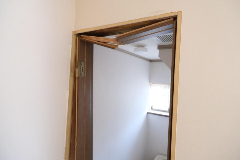 トイレドア 解体